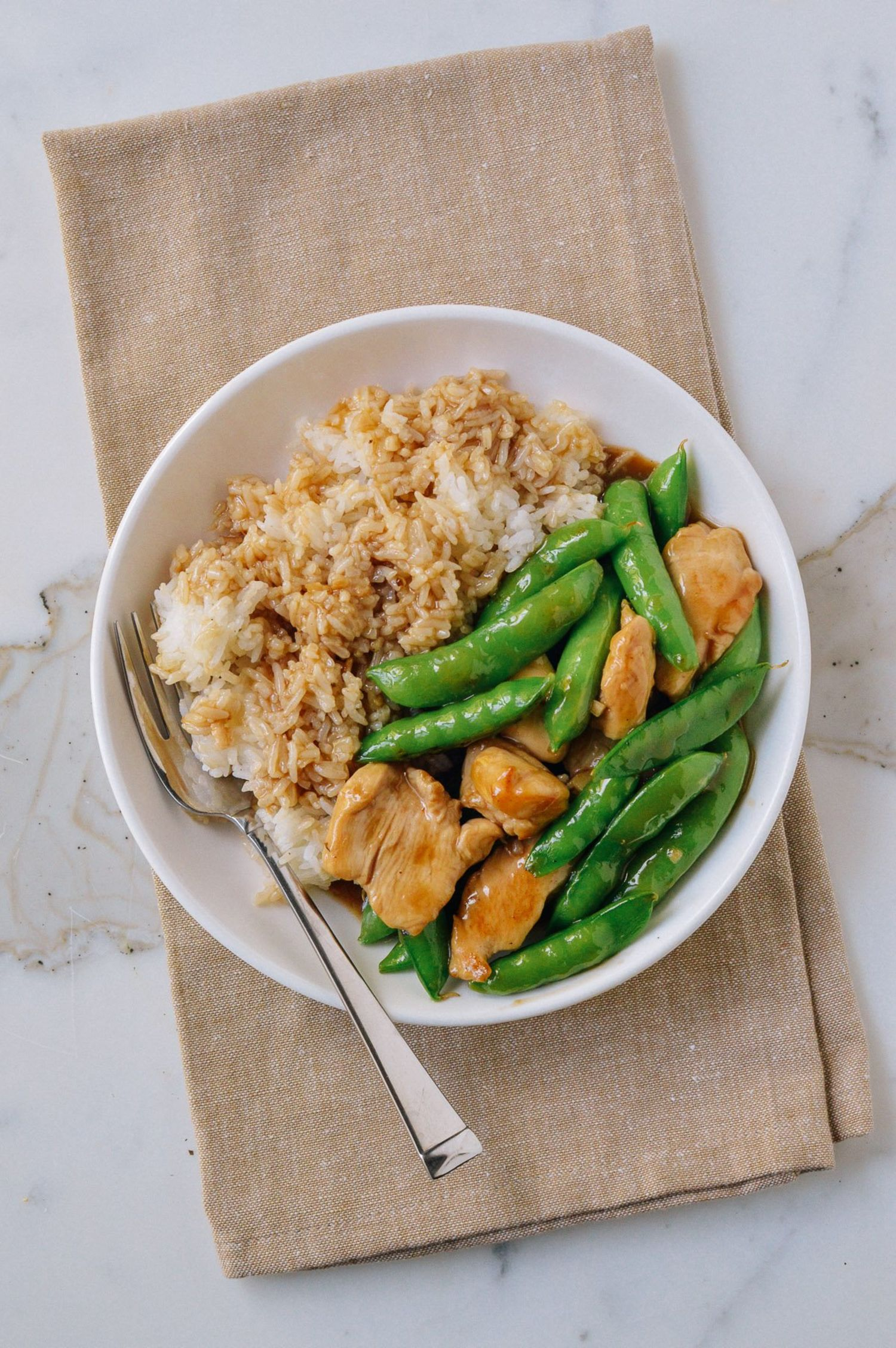 Chicken and Snap-Pea Stir-Fry