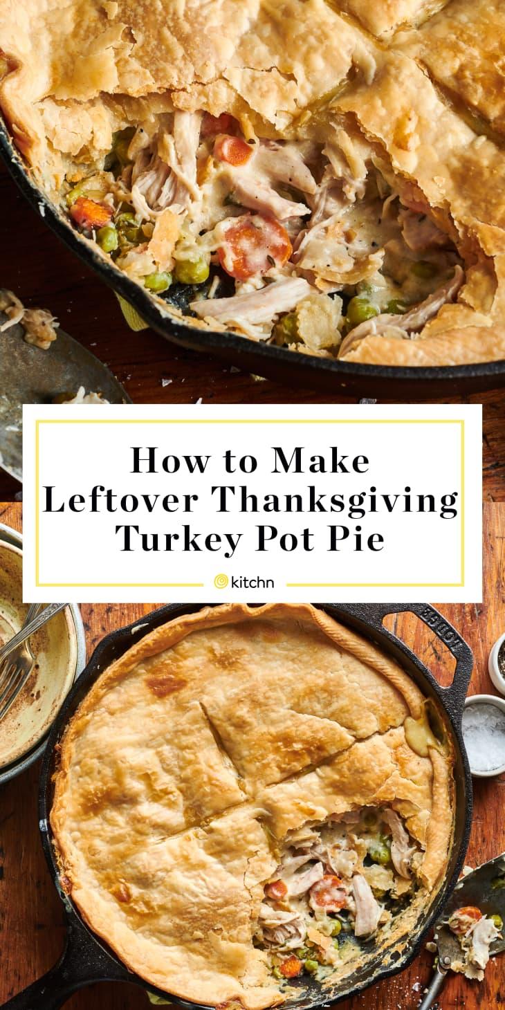 How to Make Leftover Thanksgiving Turkey Pot Pie custom pin.