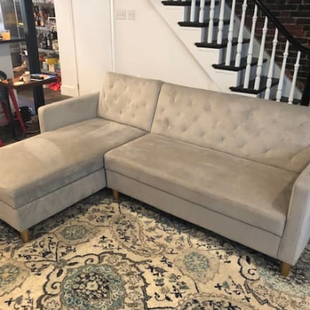 Awe Inspiring Charlton Home Homerville Sleeper Sofa Capri Blue Gmtry Best Dining Table And Chair Ideas Images Gmtryco