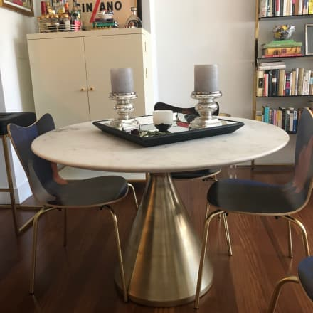 West Elm Dinning Table Side Table Apartment Therapy S Bazaar