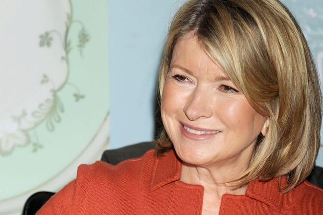Martha Stewart signing a book
