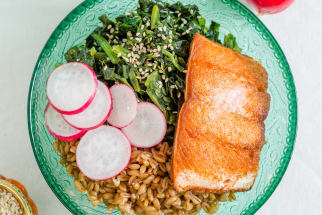 Farro Bowl with Salmon