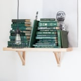 Green color-coordinated books