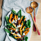 Marinated Baby Beet and Carrot Salad with Herbed Yogurt Ranch