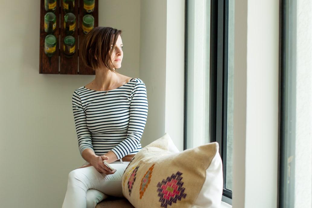 Window seat portrait