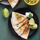 Spinach and Bean Quesadillas