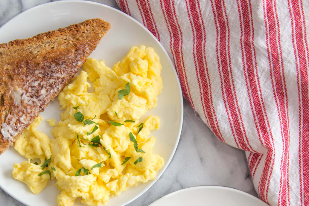 Fluffiest Scrambled Eggs
