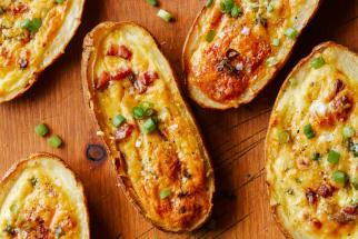 Potato Skin Egg Boats