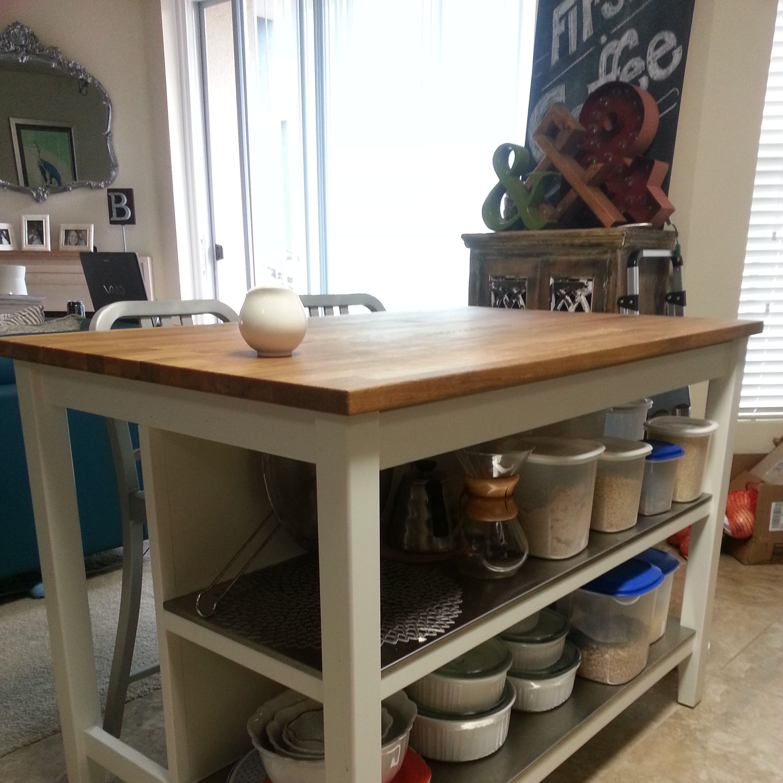 Ikea STENSTORP Kitchen Island - Gorgeous Oak Top!