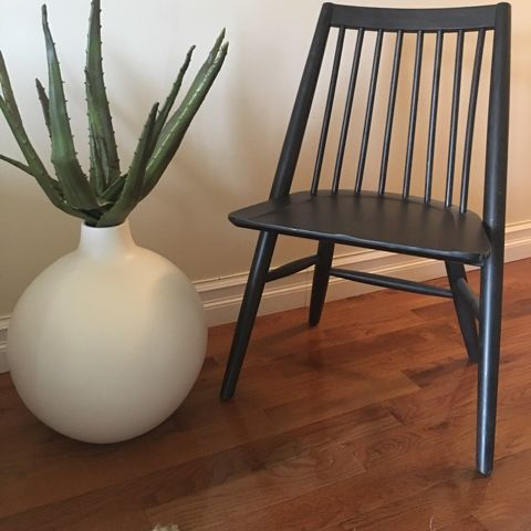 2x Mcm West Elm Scissor Spindle Dining Chairs Apartment