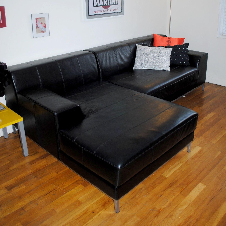 Remarkable Ikea Kramfors Black Leather Sectional Evergreenethics Interior Chair Design Evergreenethicsorg