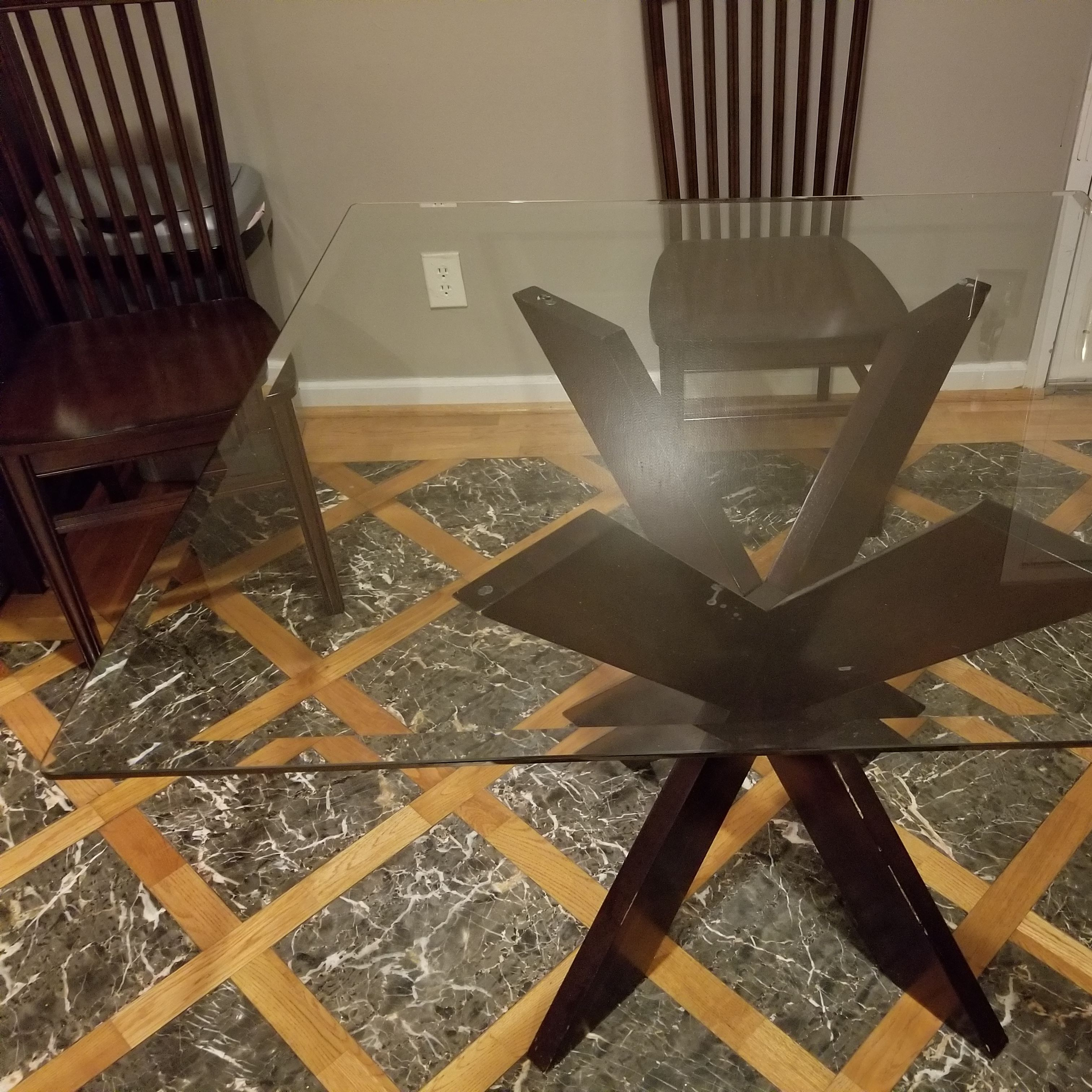 Simon Espresso X Dining Table W Square Glass Top Apartment Therapy S Bazaar