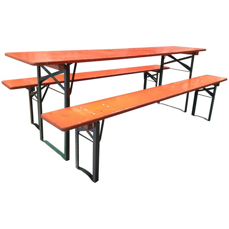 Miraculous German Beer Garden Picnic Table W 2 Benches Camellatalisay Diy Chair Ideas Camellatalisaycom