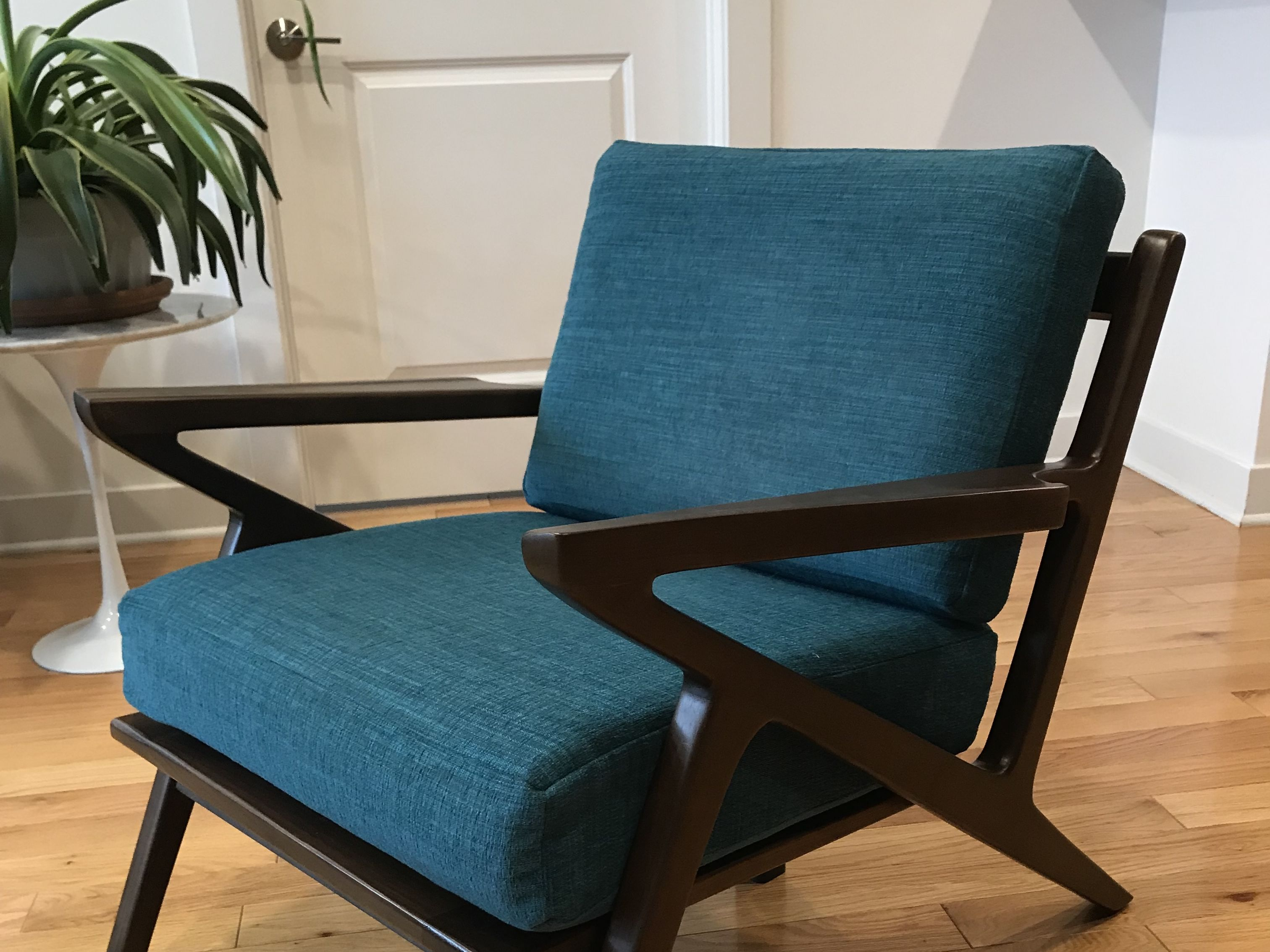 Astounding Mid Century Modern Z Lounge Chair Solid Walnut Caraccident5 Cool Chair Designs And Ideas Caraccident5Info