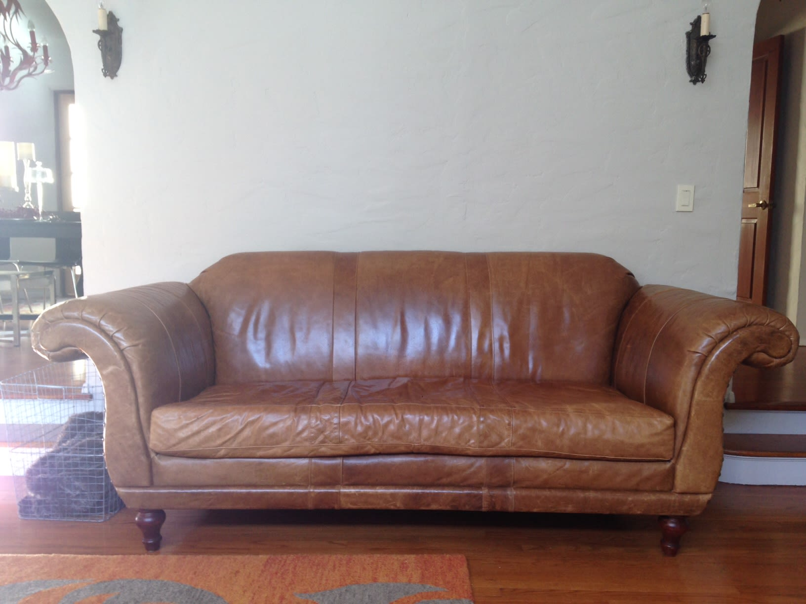 Astounding Anthropologie Leather Cotswold Couch Creativecarmelina Interior Chair Design Creativecarmelinacom