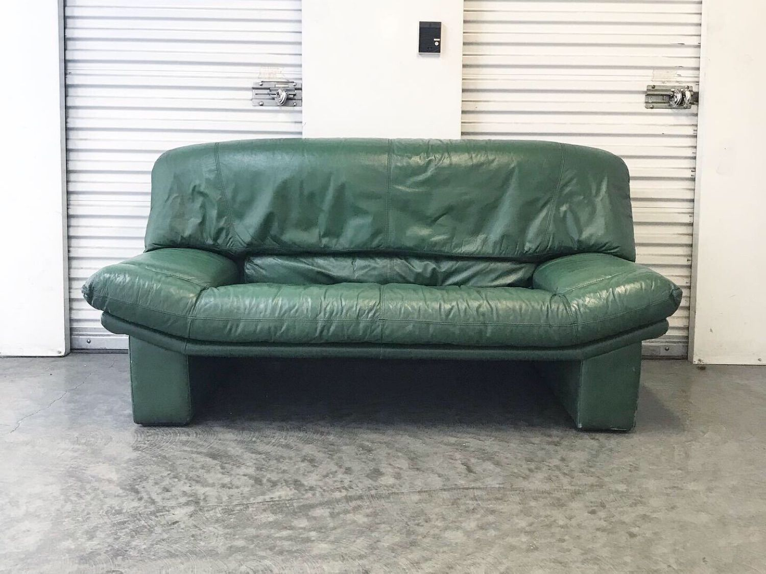 Prime Vintage 80S Italian Green Leather Loveseat Sofa Andrewgaddart Wooden Chair Designs For Living Room Andrewgaddartcom