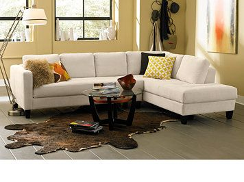 Stupendous Ivory Rylee Fabric 2 Piece Sectional Sofa Creativecarmelina Interior Chair Design Creativecarmelinacom
