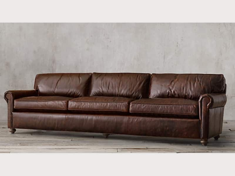 Restoration Hardware Lancaster Leather Sofa Apartment Therapy S