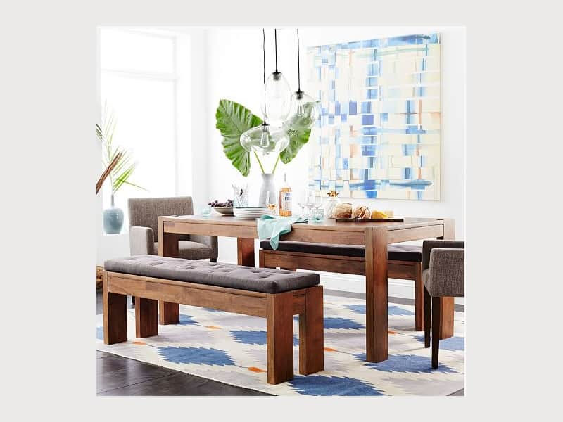 West Elm Boerum Dining Table 2 Matching Benches