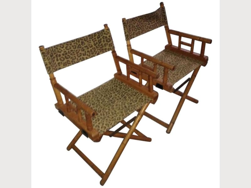 Directors Chairs From Telescope Leopard Print Apartment
