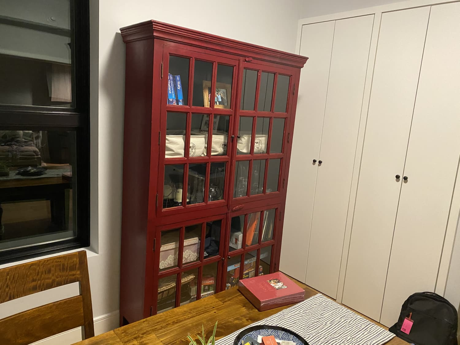 Rojo Red Tall Cabinet Apartment Therapy S Bazaar