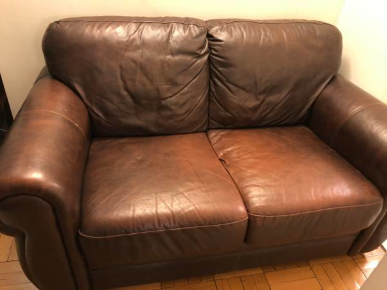 Awe Inspiring Raymour Flanigan Brown Marsala Leather Loveseat Uwap Interior Chair Design Uwaporg