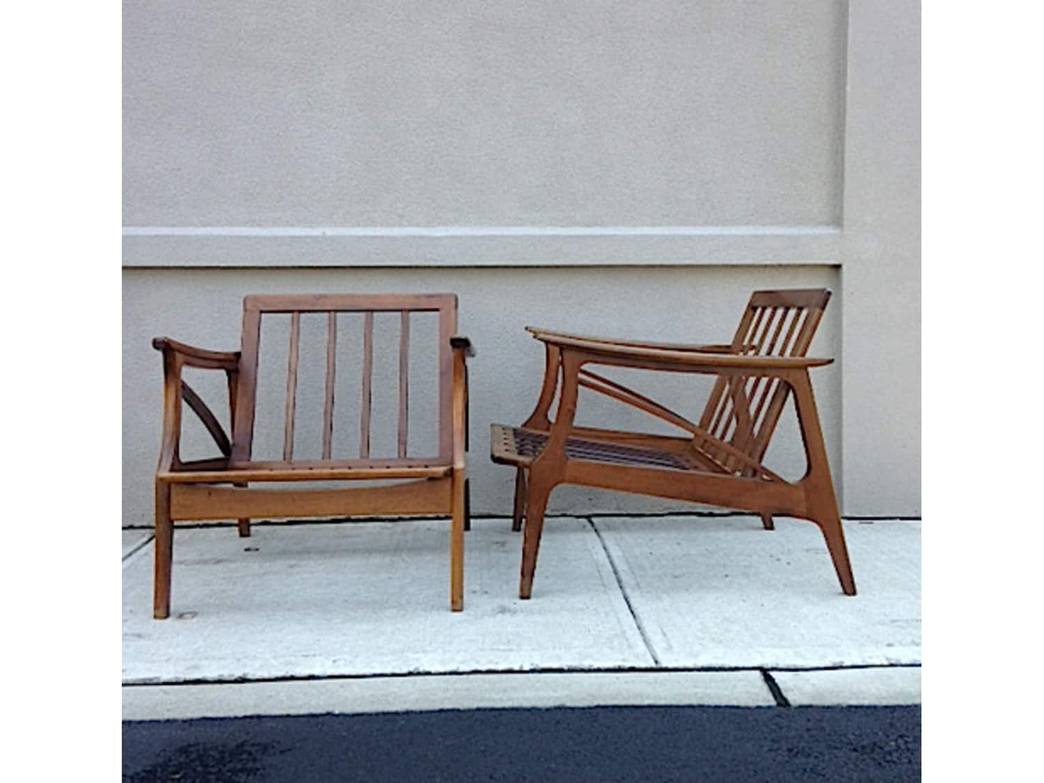Pleasant 2 Mid Century Lounge Chairs Made In Yugoslavia Apartment Ocoug Best Dining Table And Chair Ideas Images Ocougorg
