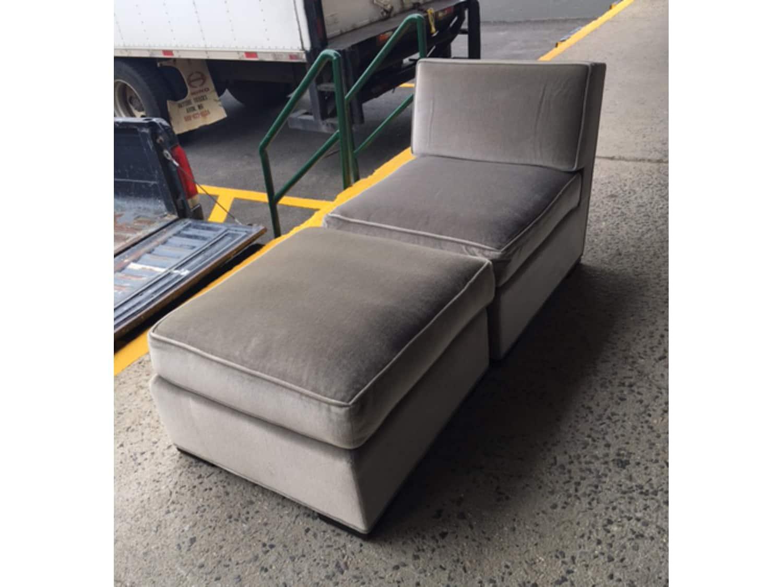 Tremendous Donghia Mohair Silver Chair With Ottoman Chaise Apartment Cjindustries Chair Design For Home Cjindustriesco