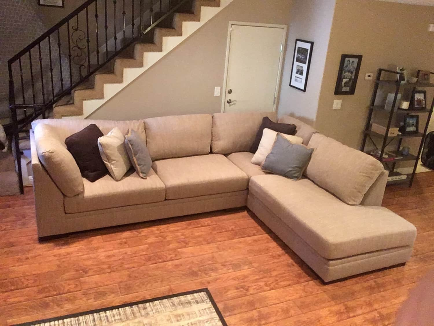 Superb New 2 Piece Sectional Couch Malakoff Apartment Ibusinesslaw Wood Chair Design Ideas Ibusinesslaworg