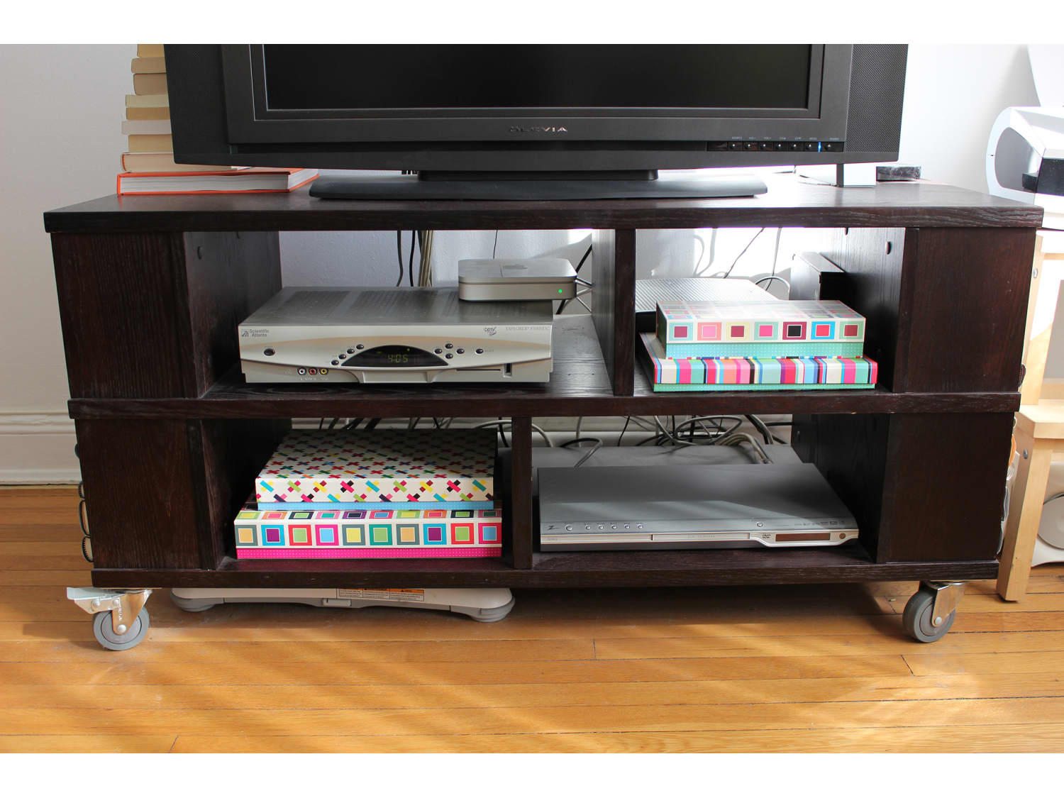 Crate And Barrel Dark Brown Tv Stand With Storage