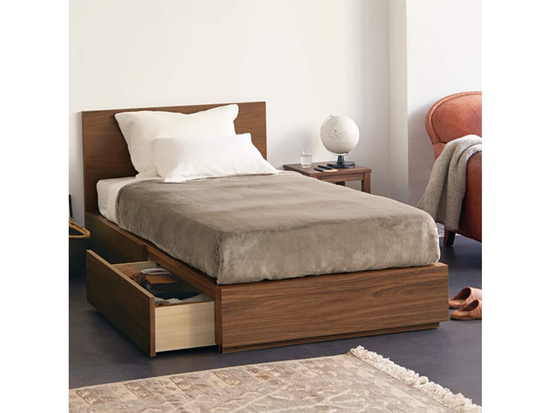 Muji Walnut Single/Twin Storage Bed - Gently Used ...