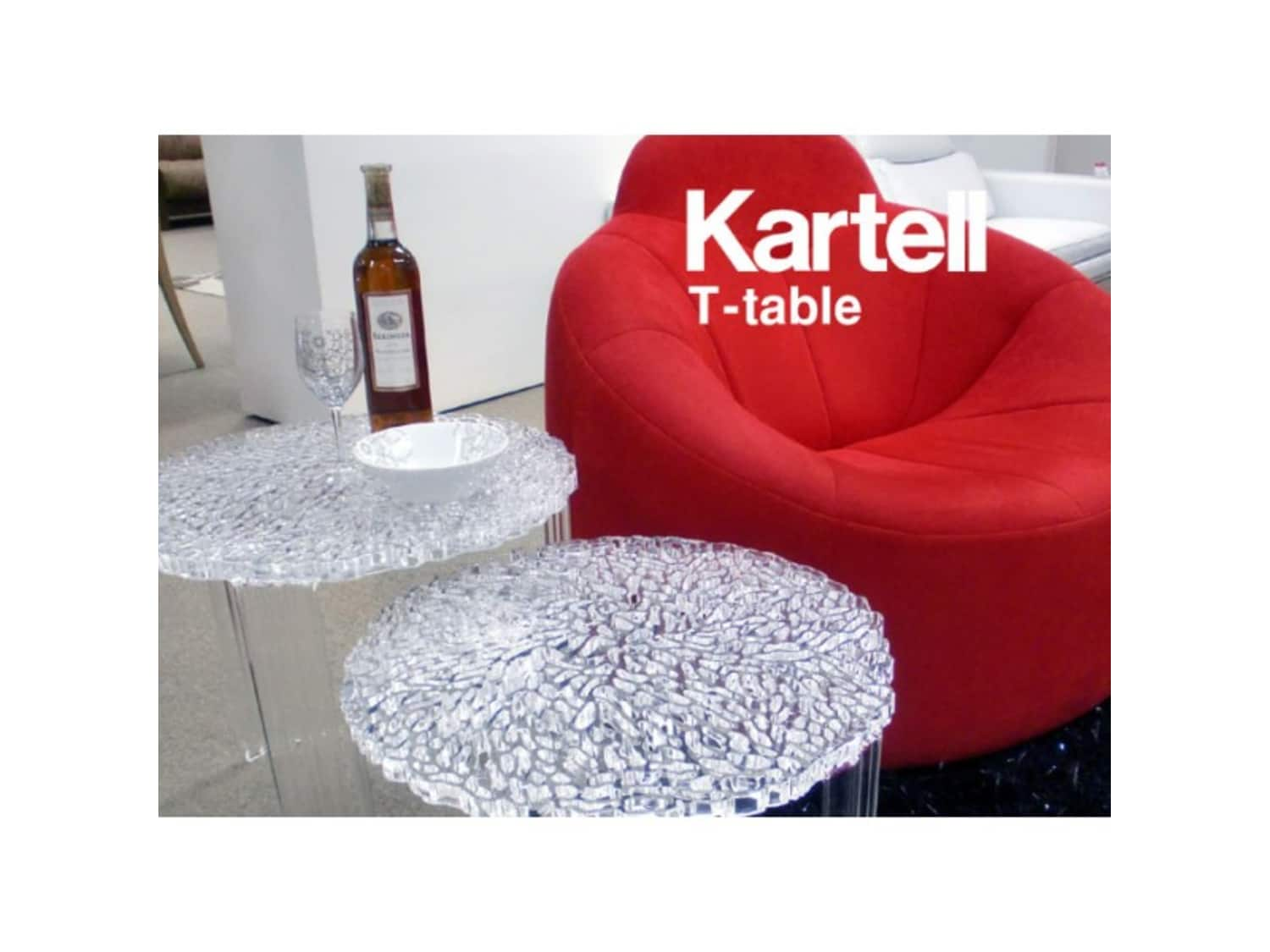 Tavolino T Table Kartell.100 Kartell T Table Side Table Crystal Made In F