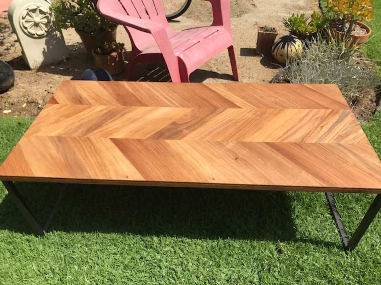 Fantastic Beautiful Wood Coffee Table Cb2 Chevron Apartment Inzonedesignstudio Interior Chair Design Inzonedesignstudiocom