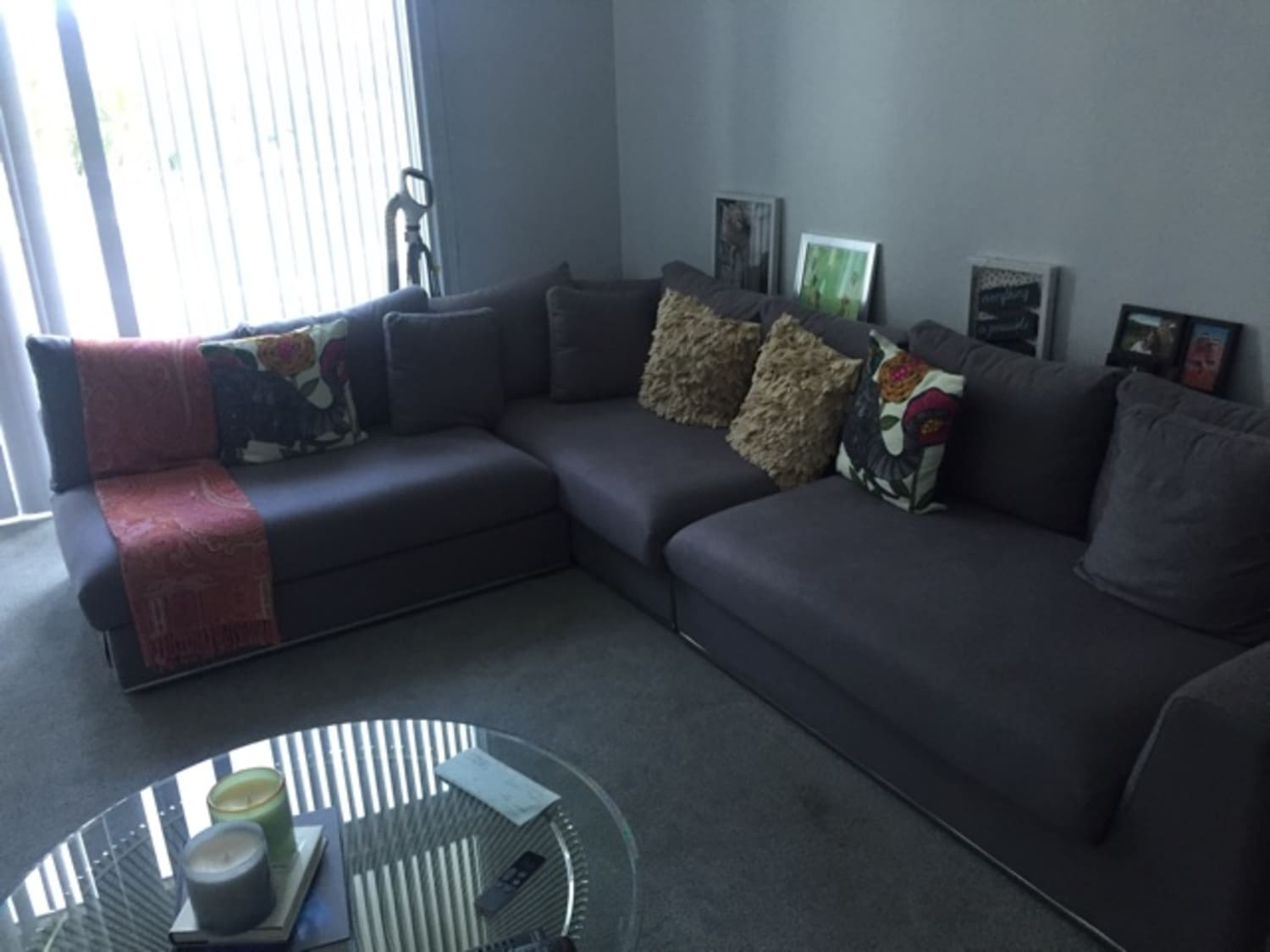 Prime Giovani Fabric Contemporary Sofa Gray From Modani Onthecornerstone Fun Painted Chair Ideas Images Onthecornerstoneorg