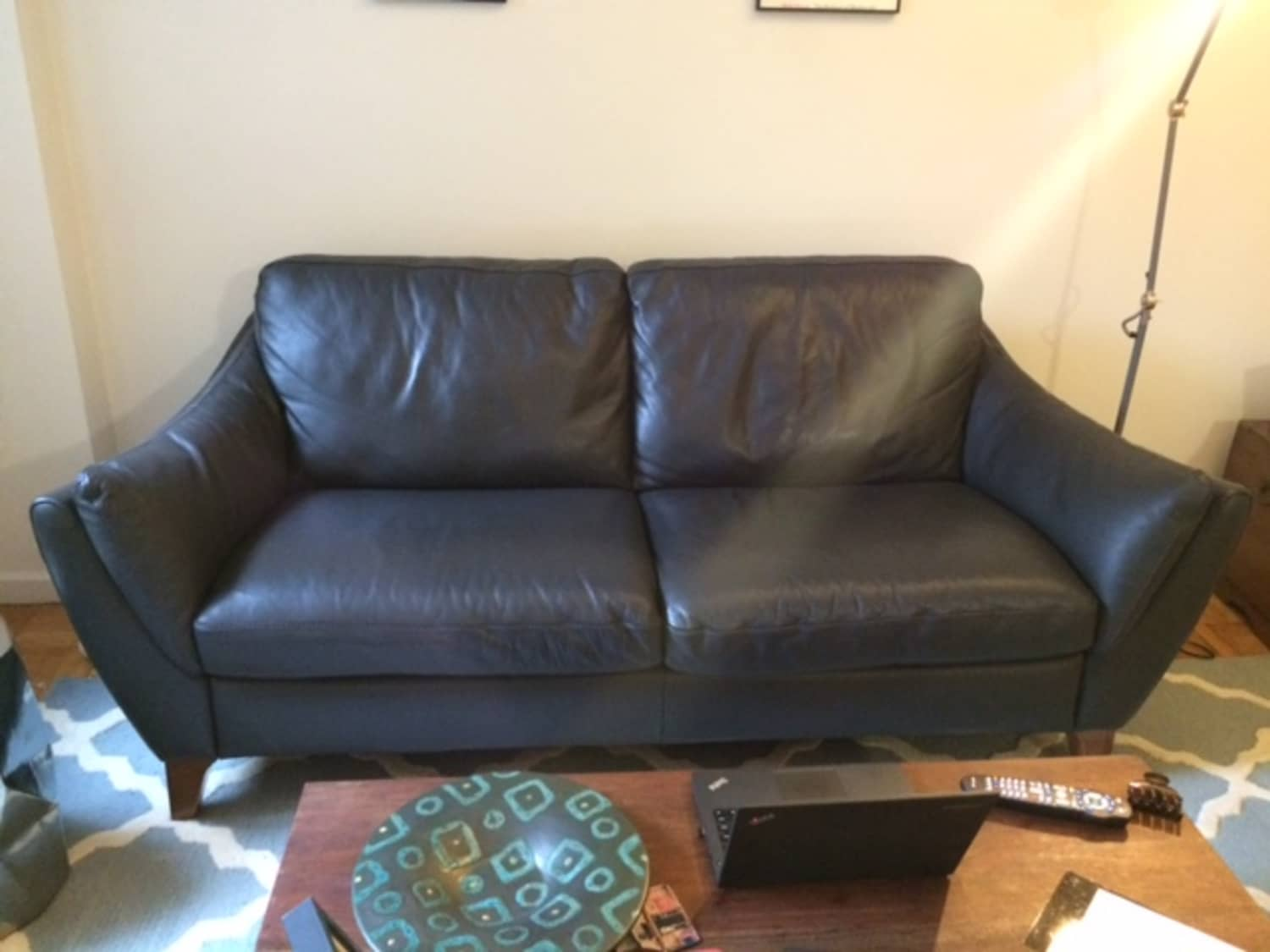 - Raymour Grey Leather Couch (like New!) - Apartment Therapy's Bazaar.