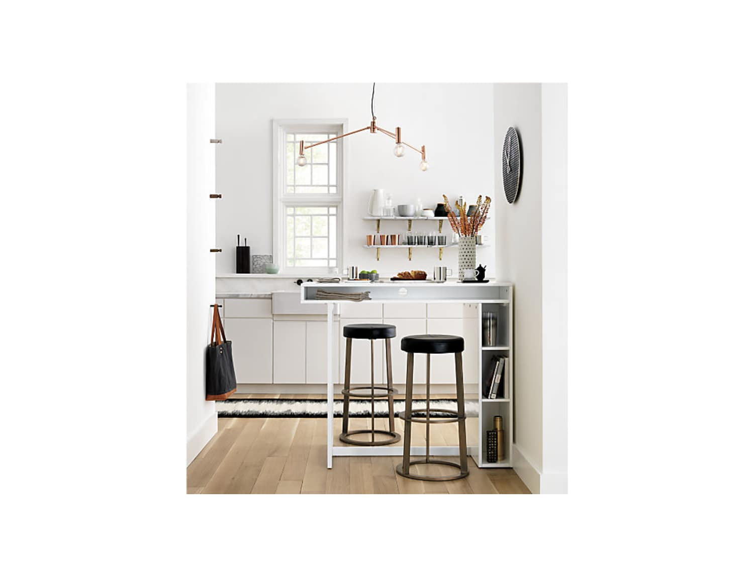 Brand New Cb2 Public White High Dining Table Apartment Therapy S Bazaar