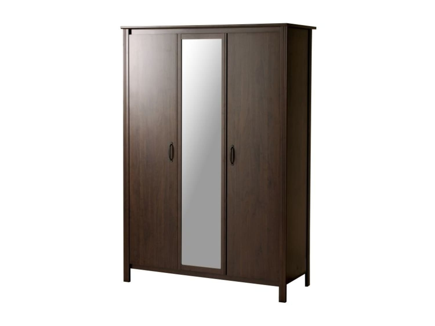 Ikea Brusali Wardrobe With 3 Doors Mirror Apartment Therapy S