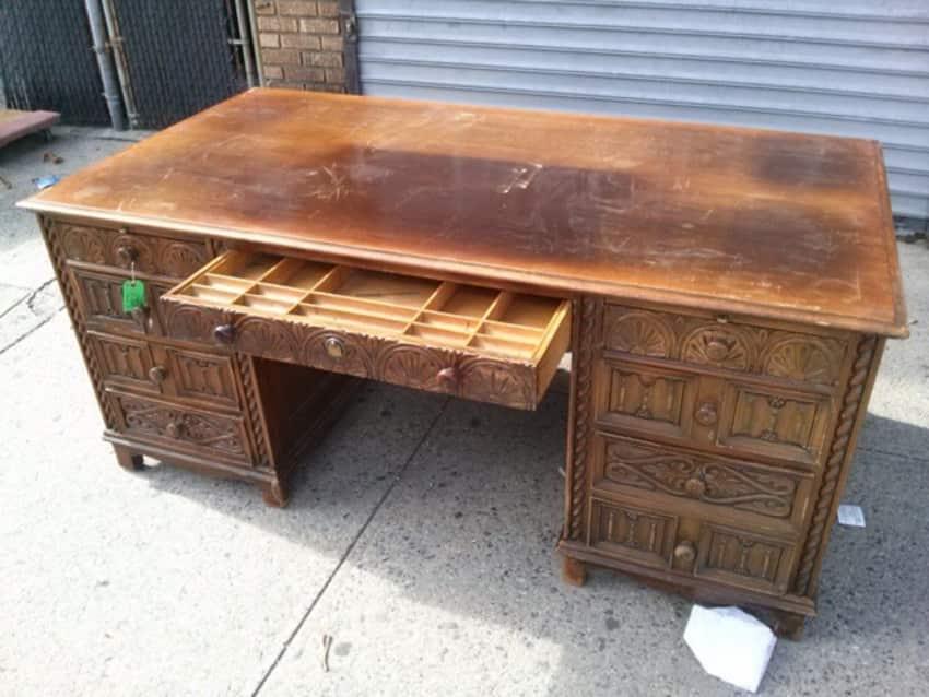 Tudor Style Vintage Executive Desk - Tudor Style Vintage Executive Desk - Apartment Therapy Marketplace