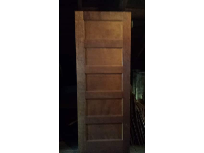Exceptionnel Antique Solid 5 Panel Wood Door