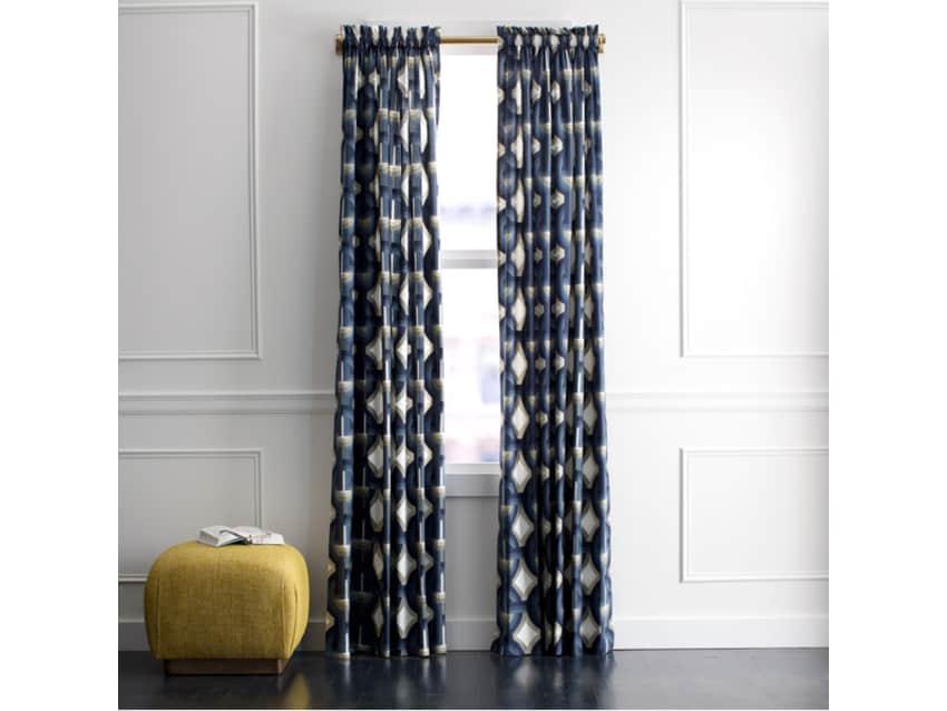 4 New DwellStudio Futura 84 In Curtain Panels