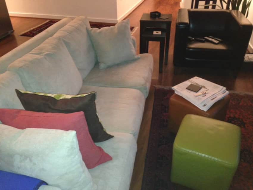 Macyu0027s Kenton Fabric Sofa In Excellent Condition