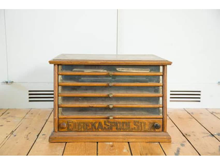 Antique Victorian Eureka Silk Spool Cabinet - Antique Victorian Eureka Silk Spool Cabinet - Apartment Therapy