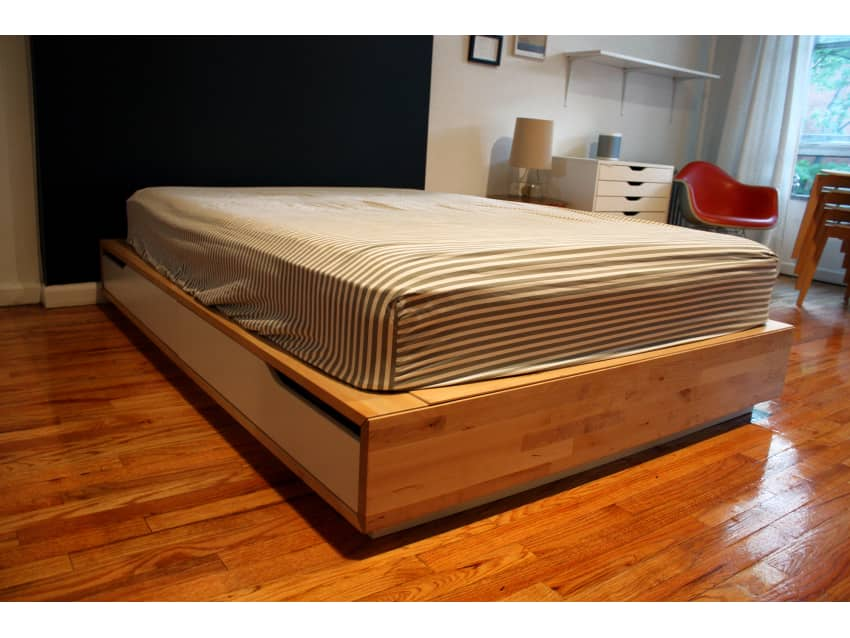 ikea mandal storage bed frame full double size apartment therapy marketplace classifieds. Black Bedroom Furniture Sets. Home Design Ideas