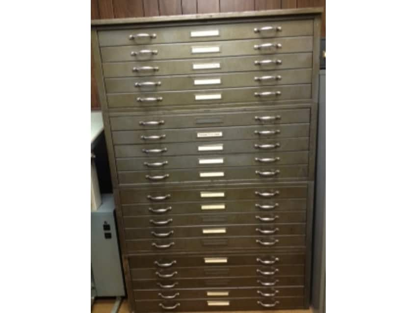 Vintage flat file / files cabinets - industrial - Vintage Flat File / Files Cabinets - Industrial - Apartment Therapy
