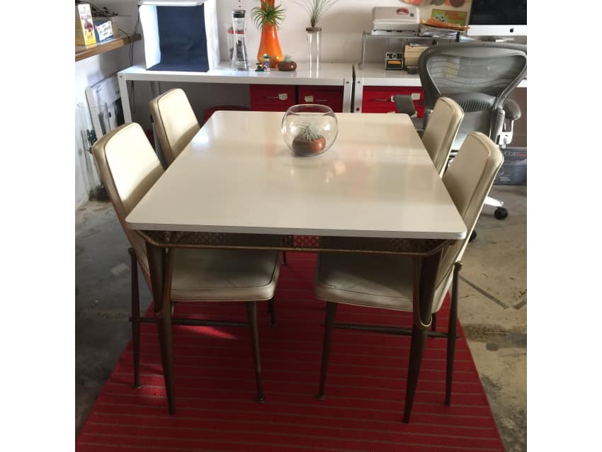 Virtue Bros. Vintage Formica Dining Table + Chairs