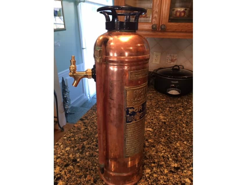 Antique Fire Extinguisher Beer Tap Apartment Therapy
