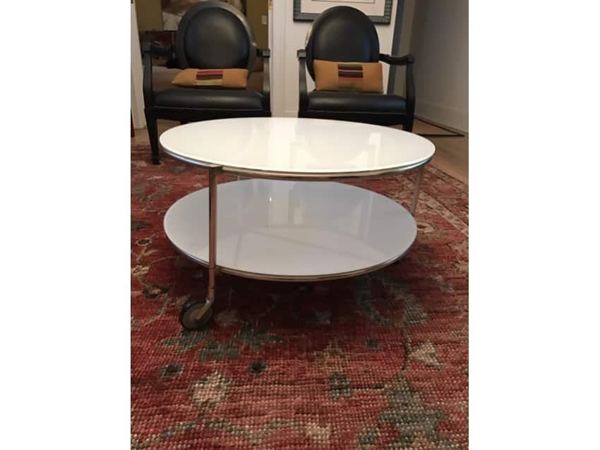 IKEA Strind Round White Glass Coffee Table Apartment Therapy - Strind coffee table