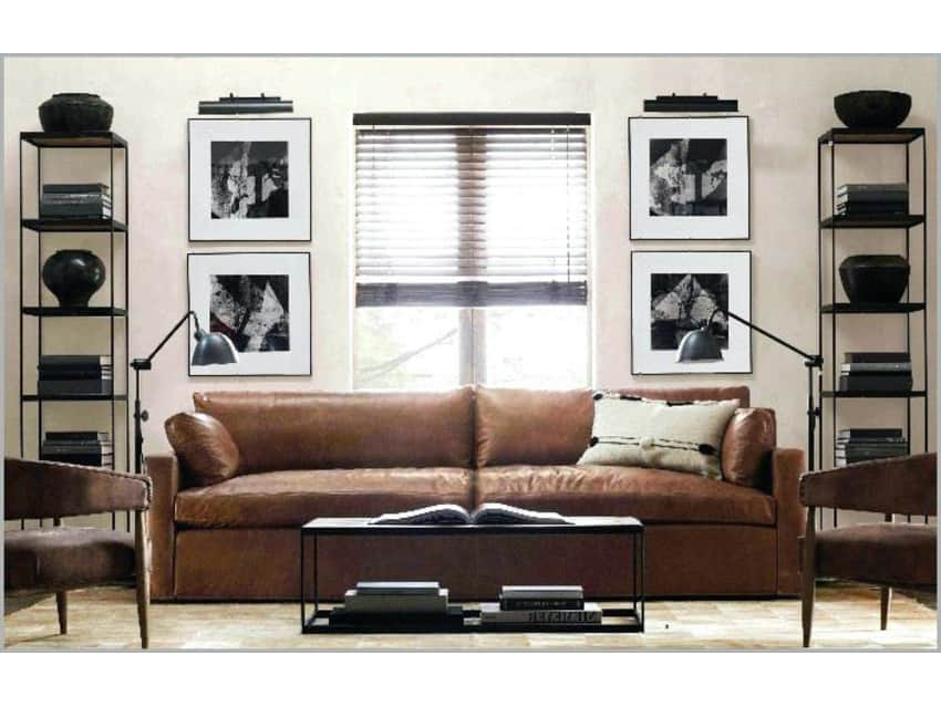 Exceptionnel Maxwell Leather Sofa (Restoration Hardware)