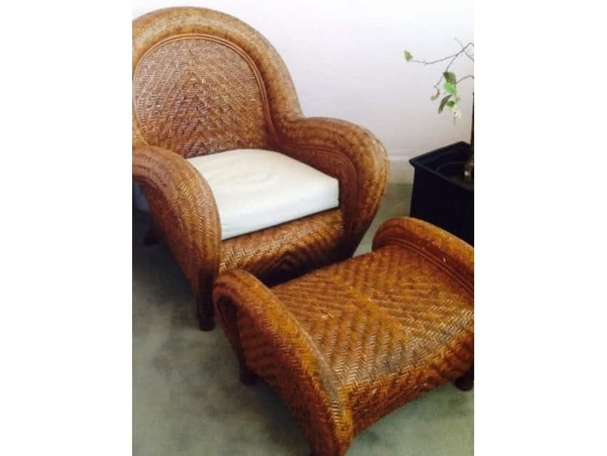 Superieur Pottery Barn Malabar Chair And Ottoman