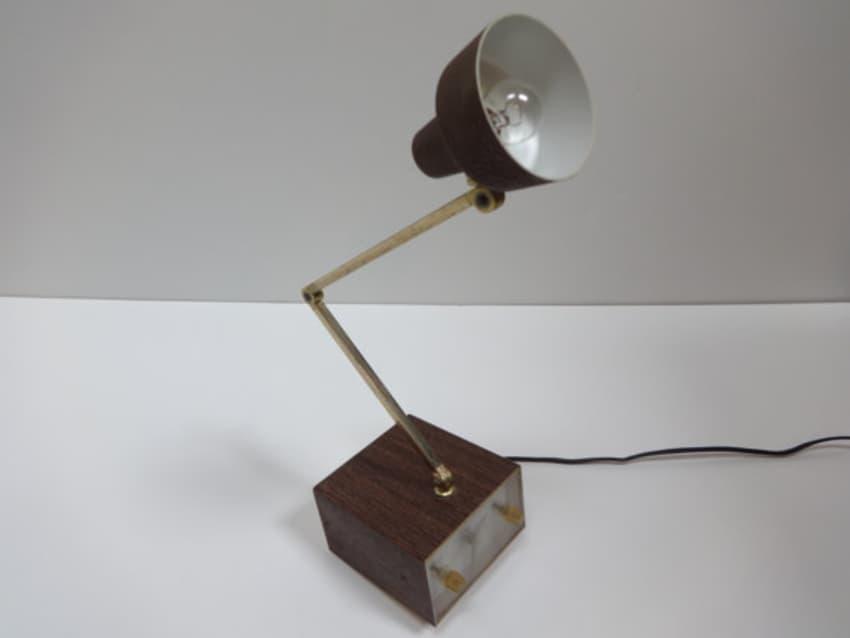 Mid Century Modern Tensor Alarm Clock Desk Lamp